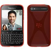 Silicone Case for BlackBerry Q20 X-Style red