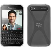 Silicone Case for BlackBerry Q20 X-Style transparent