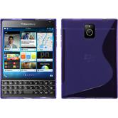 Silicone Case for BlackBerry Q30 S-Style purple