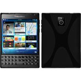 Silicone Case for BlackBerry Q30 X-Style black