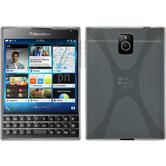 Silicone Case for BlackBerry Q30 X-Style transparent