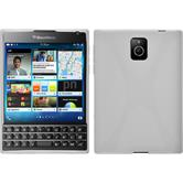 Silicone Case for BlackBerry Q30 X-Style white