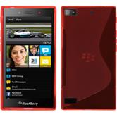 Silicone Case for BlackBerry Z3 S-Style red
