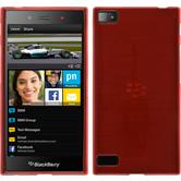 Silicone Case for BlackBerry Z3 brushed red
