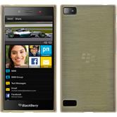 Silicone Case for BlackBerry Z3 brushed gold