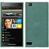 Silicone Case for BlackBerry Z3 brushed green