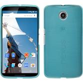 Silicone Case for Google Motorola Nexus 6 brushed blue