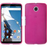 Silicone Case for Google Motorola Nexus 6 brushed hot pink