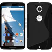 Silicone Case for Google Motorola Nexus 6 S-Style black