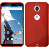 Silicone Case for Google Motorola Nexus 6 S-Style red