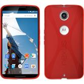 Silicone Case for Google Motorola Nexus 6 X-Style red