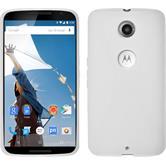Silicone Case for Google Motorola Nexus 6 X-Style white