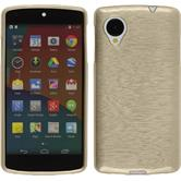 Silicone Case for Google Nexus 5 brushed gold