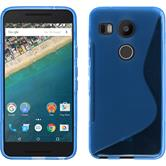 Silicone Case for Google Nexus 5X S-Style blue