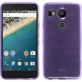 Silicone Case for Google Nexus 5X transparent purple