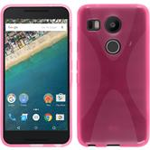 Silicone Case for Google Nexus 5X X-Style hot pink