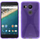 Silicone Case for Google Nexus 5X X-Style purple