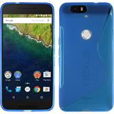 Silicone Case for Google Nexus 6P S-Style blue
