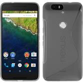 Silicone Case for Google Nexus 6P S-Style gray