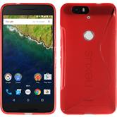 Silicone Case for Google Nexus 6P S-Style red