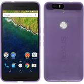 Silicone Case for Google Nexus 6P transparent purple