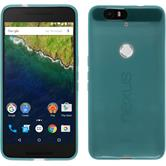 Silicone Case for Google Nexus 6P transparent turquoise