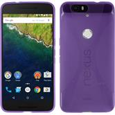 Silicone Case for Google Nexus 6P X-Style purple