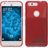 Silicone Case for Google Pixel S-Style red