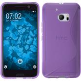 Silicone Case for HTC 10 S-Style purple