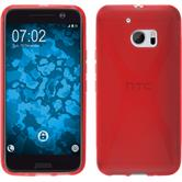 Silicone Case for HTC 10 X-Style red