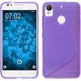 Silicone Case Desire 10 Lifestyle S-Style purple