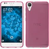 Silicone Case Desire 10 Lifestyle transparent hot pink