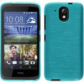 Silicone Case for HTC Desire 326G brushed blue