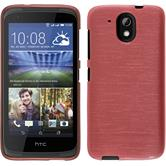 Silicone Case for HTC Desire 326G brushed pink