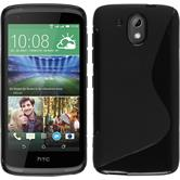 Silicone Case for HTC Desire 326G S-Style black