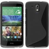 Silicone Case for HTC Desire 326G S-Style gray