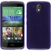 Silicone Case for HTC Desire 326G transparent purple
