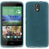 Silicone Case for HTC Desire 326G transparent turquoise
