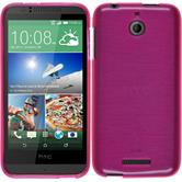 Silicone Case for HTC Desire 510 brushed hot pink