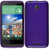 Silicone Case for HTC Desire 510 brushed purple