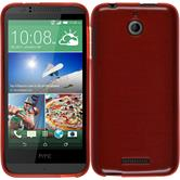 Silicone Case for HTC Desire 510 brushed red