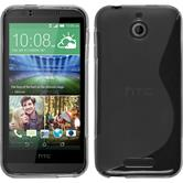 Silicone Case for HTC Desire 510 S-Style gray