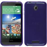Silicone Case for HTC Desire 510 transparent purple