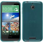 Silicone Case for HTC Desire 510 transparent turquoise