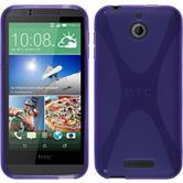 Silicone Case for HTC Desire 510 X-Style purple
