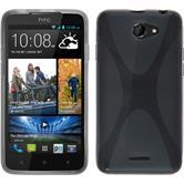 Silicone Case for HTC Desire 516 X-Style gray