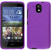 Silicone Case for HTC Desire 526G+ brushed purple
