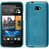 Silicone Case for HTC Desire 601 brushed blue