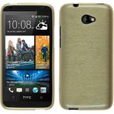 Silicone Case for HTC Desire 601 brushed gold