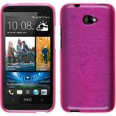 Silicone Case for HTC Desire 601 brushed hot pink